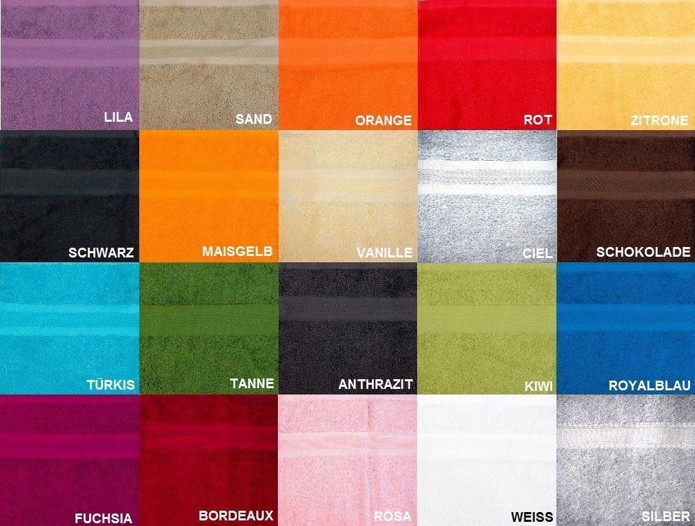 Duschtuch Frottée Color Eco 70 x 140 cm