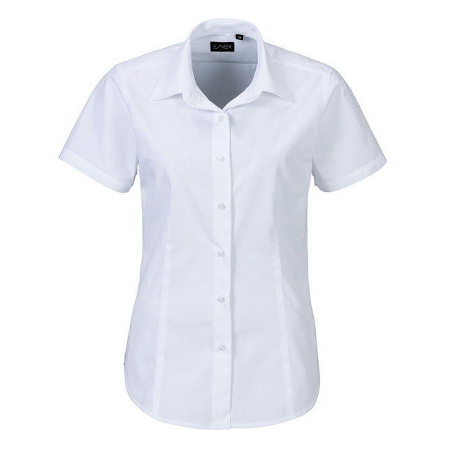 Bluse mit kurzem Arm, Mischgewebe pflegeleicht, Weiss, 2er Pack